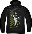 James Dean pull-over hoodie Checkered Darkness adult black