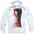 James Dean pull-over hoodie Crossed adult white