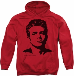 James Dean pull-over hoodie The Man adult red