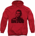 James Dean pull-over hoodie Dean Graffiti adult red