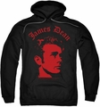 James Dean pull-over hoodie Deep Thought adult black
