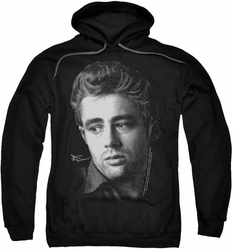 James Dean pull-over hoodie Dots adult black