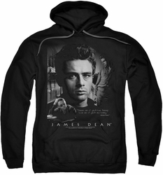 James Dean pull-over hoodie Dream Live adult black