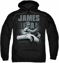 James Dean pull-over hoodie Immortality Quote adult black