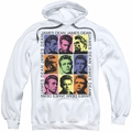 James Dean pull-over hoodie James Color Block adult white