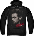 James Dean pull-over hoodie Large Halftones adult black