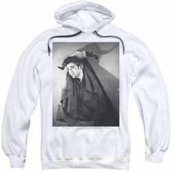 James Dean pull-over hoodie Matador adult white