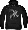James Dean pull-over hoodie Mischevious Large adult black