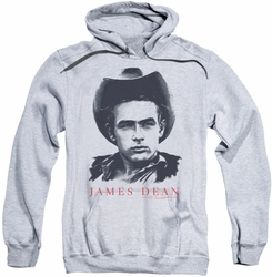 James Dean pull-over hoodie New Cowboy adult athletic heather