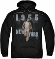 James Dean pull-over hoodie New York 1955 adult black