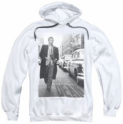 James Dean pull-over hoodie On The Street adult white