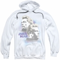 James Dean pull-over hoodie Pastel Charmer adult white