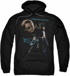 James Dean pull-over hoodie Pit Stop adult black