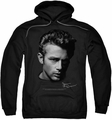James Dean pull-over hoodie Portrait adult black