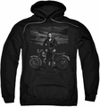 James Dean pull-over hoodie Rebel Rider adult black