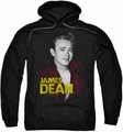 James Dean pull-over hoodie Red Jacket adult black