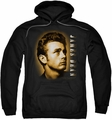 James Dean pull-over hoodie Sepia Portrait adult black