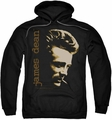 James Dean pull-over hoodie Smoke adult black