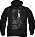 James Dean pull-over hoodie Standing Leather adult black