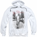James Dean pull-over hoodie Street Distressed adult white