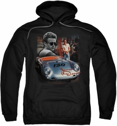 James Dean pull-over hoodie Sunday Drive adult black