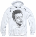 James Dean pull-over hoodie Vintage Face adult white