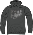 James Dean pull-over hoodie Worn Out adult charcoal