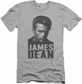 James Dean slim-fit t-shirt Dean Lines mens silver