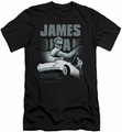 James Dean slim-fit t-shirt Immortality Quote mens black