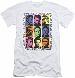 James Dean slim-fit t-shirt James Color Block mens white