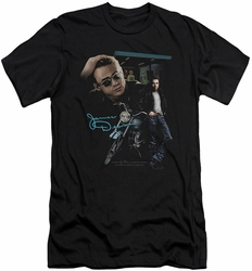 James Dean slim-fit t-shirt Pit Stop mens black