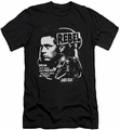 James Dean slim-fit t-shirt Rebel Cover mens black