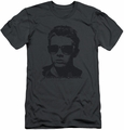 James Dean slim-fit t-shirt Shades mens charcoal