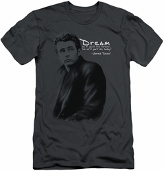 James Dean slim-fit t-shirt Trench mens charcoal