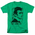 James Dean t-shirt Against The Wall mens kelly green