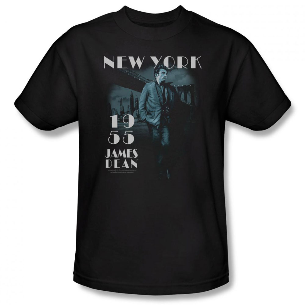 James Dean T Shirt Brooklyn Bridge Mens Black