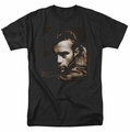 James Dean t-shirt Brown Leather mens black