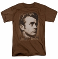 James Dean t-shirt Distressed mens coffee