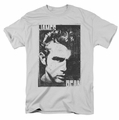 James Dean t-shirt Graphic mens silver