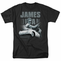 James Dean t-shirt Immortality Quote mens black