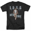 James Dean t-shirt New York 1955 mens black