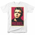 James Dean t-shirt Rebel Campaign mens white