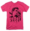 James Dean t-shirt Rebel Rebel mens hot pink