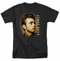 James Dean t-shirt Sepia Portrait mens black