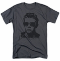 James Dean t-shirt Shades mens charcoal