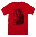 James Dean t-shirt Trenchcoat mens red
