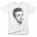 James Dean t-shirt Vintage Face mens white
