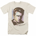 James Dean t-shirt Watercolor Dean mens cream