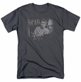 James Dean t-shirt Worn Out mens charcoal