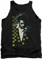 James Dean tank top Checkered Darkness mens black
